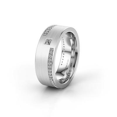 Trouwring WH2048L17DM 925 zilver diamant ±7x2.4 mm