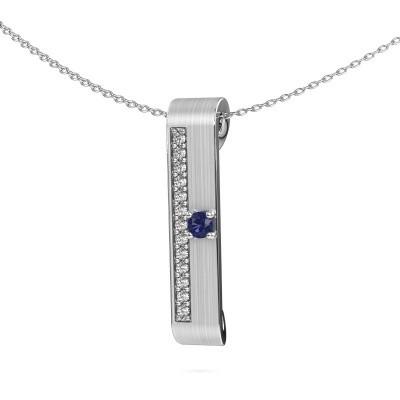 Picture of Necklace Vicki 950 platinum sapphire 3 mm