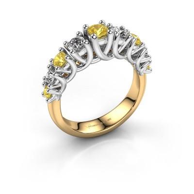 Engagement ring Fatima 585 gold yellow sapphire 3.7 mm
