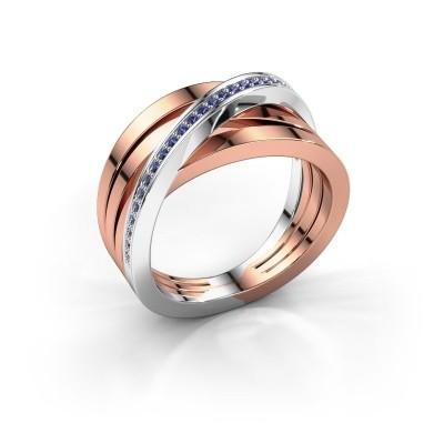 Foto van Ring Esmee 585 rosé goud saffier 1 mm