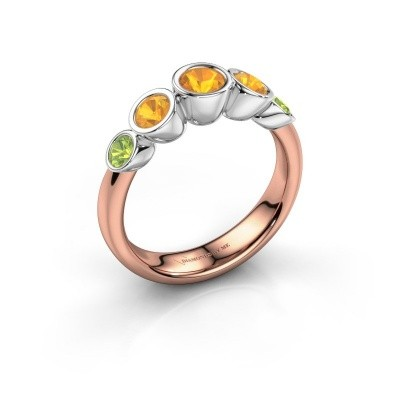 Ring Lizz 585 rose gold citrin 4 mm