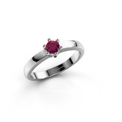 Engagement ring Luna 1 585 white gold rhodolite 3.7 mm