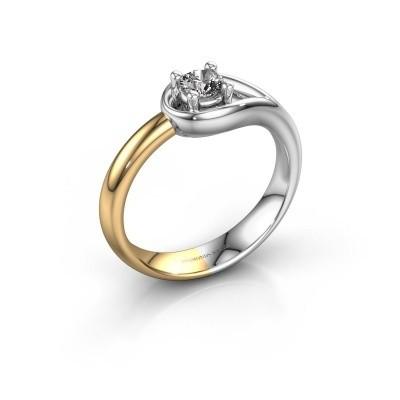 Foto van Ring Fabienne 585 witgoud diamant 0.25 crt