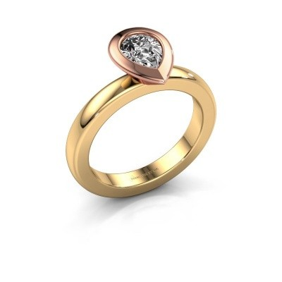 Stapelring Trudy Pear 585 goud diamant 0.65 crt