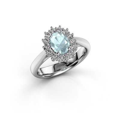 Picture of Engagement ring Margien 1 585 white gold aquamarine 7x5 mm