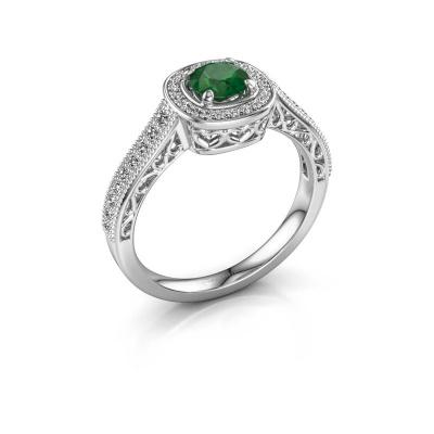 Verlovings ring Candi 925 zilver smaragd 5 mm