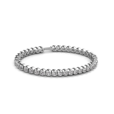 Bild von Tennis Armband Bianca 3.5 mm 585 Weißgold Diamant 7.200 crt