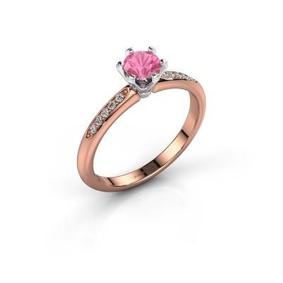 Verlovingsring Tiffy 2 585 rosé goud roze saffier 4.7 mm