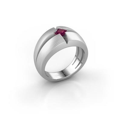 Foto van Heren ring Rens 585 witgoud rhodoliet 3.5 mm