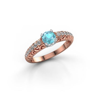 Picture of Engagement ring Mellie 585 rose gold blue topaz 5 mm