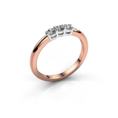Foto van Verlovingsring Michelle 3 585 rosé goud lab-grown diamant 0.30 crt