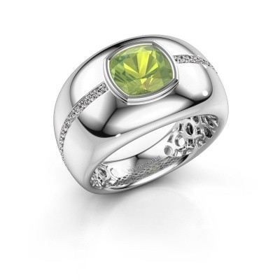 Picture of Ring Sydney 585 white gold peridot 7.5 mm