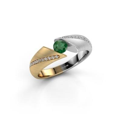 Verlovingsring Hojalien 2 585 goud smaragd 4.2 mm
