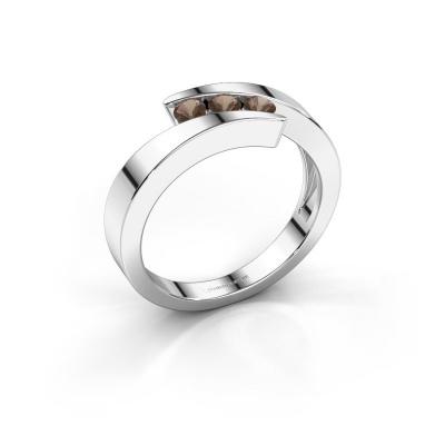 Foto van Ring Gracia 585 witgoud rookkwarts 2.7 mm