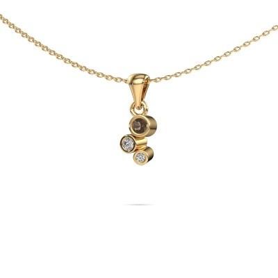Foto van Hanger Tessa 375 goud rookkwarts 2.5 mm