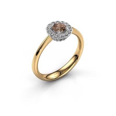 Verlovingsring Debi 585 goud bruine diamant 0.44 crt