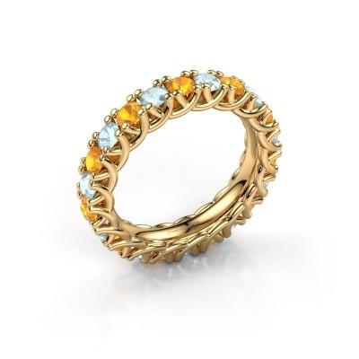 Foto van Ring Fenna 375 goud citrien 3 mm