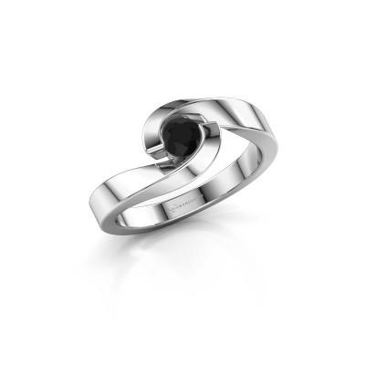 Foto van Ring Sheryl 585 witgoud zwarte diamant 0.30 crt
