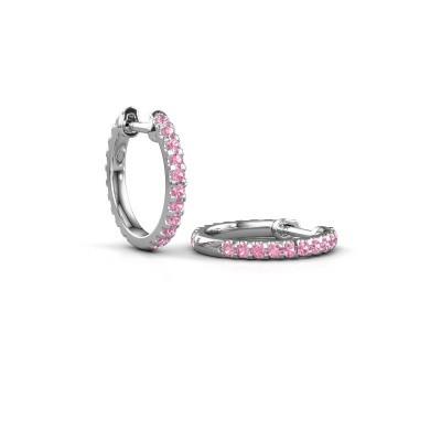 Picture of Hoop earrings Jackie 12.5 mm A 950 platinum pink sapphire 1.5 mm