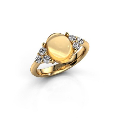 Ring Clarice 585 goud citrien 10x8 mm