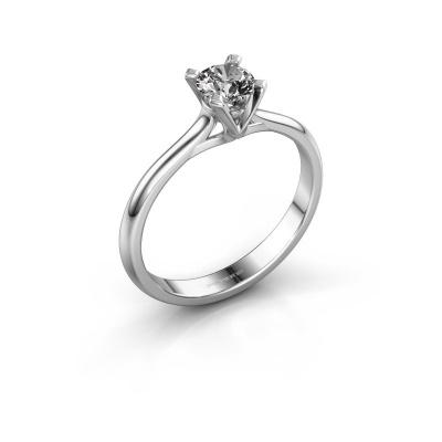 Verlovingsring Isa 1 925 zilver diamant 0.40 crt