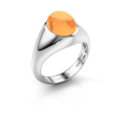 Ring Zaza 950 platina citrien 10x8 mm