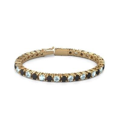 Tennisarmband Ming 375 goud zwarte diamant 18.70 crt