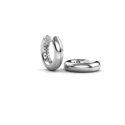 Picture of Hoop earrings Tristan A 14 mm 585 white gold