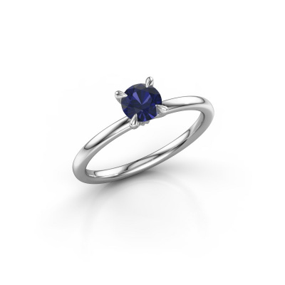 Picture of Engagement ring Crystal RND 1 925 silver sapphire 5 mm
