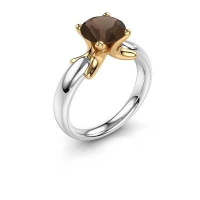 Ring Jodie 585 Weißgold Rauchquarz 8 mm