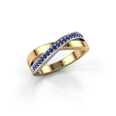 Foto van Ring Kaley 585 goud saffier 1.2 mm