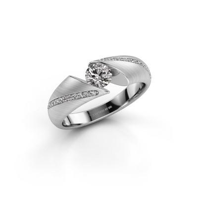 Bague de fiançailles Hojalien 2 950 platine diamant 0.52 crt