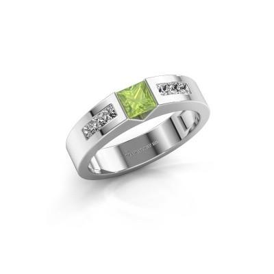 Foto van Verlovings ring Arlena 2 585 witgoud peridoot 4 mm