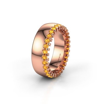 Wedding ring WH6120L27C 375 rose gold citrin ±0.28x0.09in
