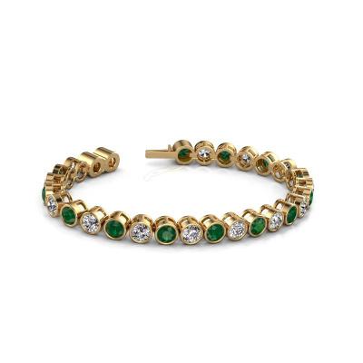 Tennis bracelet Allegra 5 mm 375 gold emerald 5 mm
