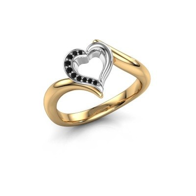 Ring Katlyn 585 gold black diamond 0.046 crt