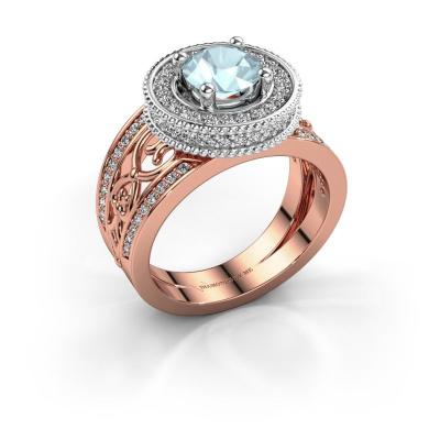 Ring Joy 585 rose gold aquamarine 6.5 mm