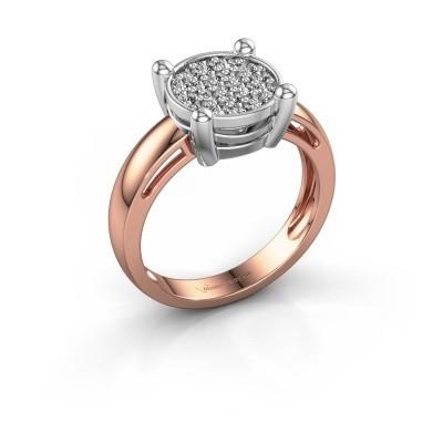 Foto van Ring Dina 585 rosé goud diamant 0.342 crt