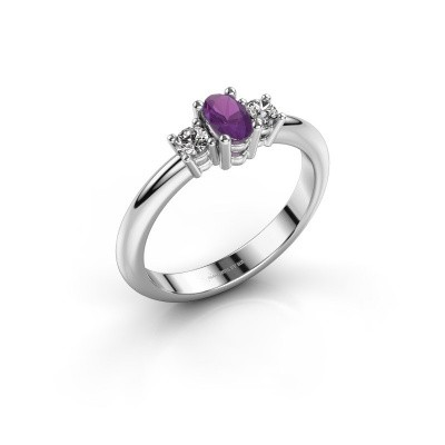 Engagement ring Karie 950 platinum amethyst 5x3 mm