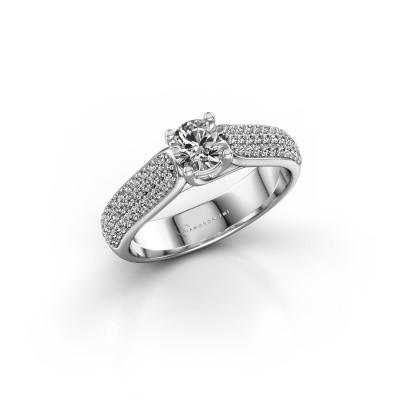 Foto van Verlovingsring Leoness 925 zilver diamant 0.40 crt
