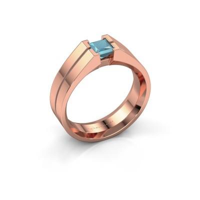 Picture of Men's ring Stefan 375 rose gold blue topaz 4.5 mm