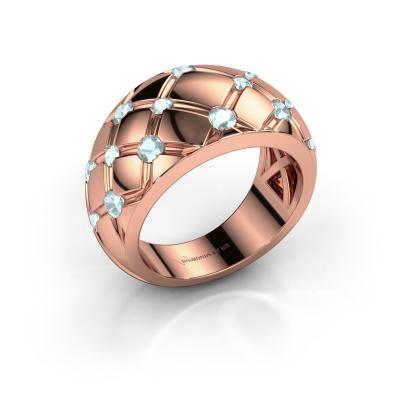 Ring Imke 585 rose gold aquamarine 2.5 mm