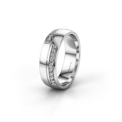 Wedding ring WH0213L26AP 925 silver zirconia ±0.24x0.07 in