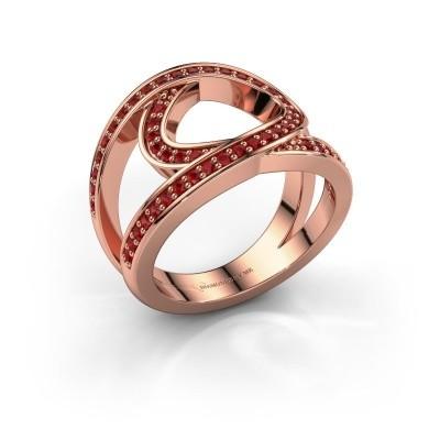 Foto van Ring Louise 375 rosé goud robijn 1.2 mm