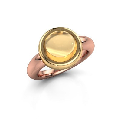 Ring Jenae 585 rose gold citrin 10 mm