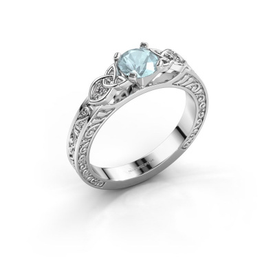 Picture of Engagement ring Gillian 925 silver aquamarine 5 mm