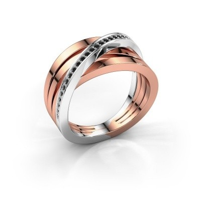 Picture of Ring Esmee 585 rose gold black diamond 0.174 crt