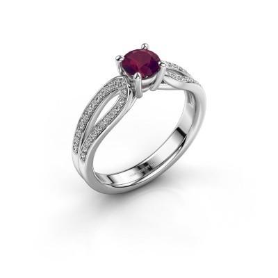 Engagement ring Antonia 2 950 platinum rhodolite 5 mm
