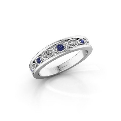 Stackable ring Laine 925 silver sapphire 2 mm