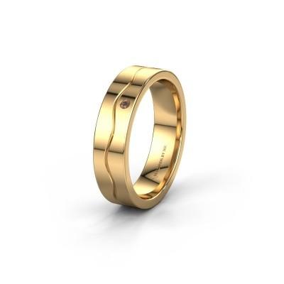 Ehering WH0701L15AP 585 Gold Braun Diamant ±5x1.7 mm